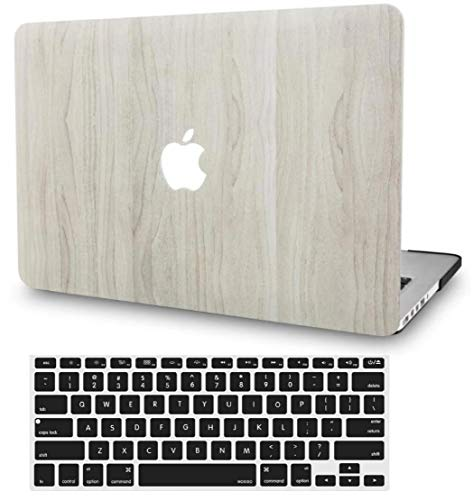 KECC MacBook Air 13 Pulgadas Funda Dura Case w/EU Cubierta Teclado MacBook Air 13.3 Ultra Delgado Plástico {A1466/A1369}(Madera de Pino 2)