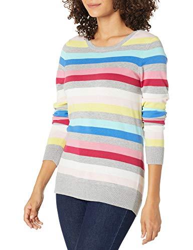 Amazon Essentials Women's Lightweight Crewneck Sweater, Multi, Medium