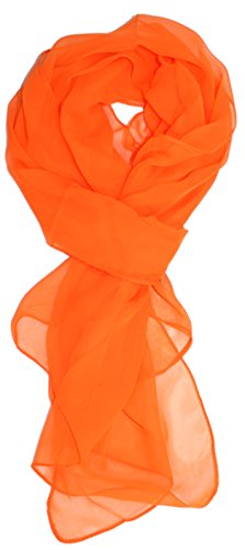 Ted and Jack - Solid Silk Lightweight Accent Scarf in Orange