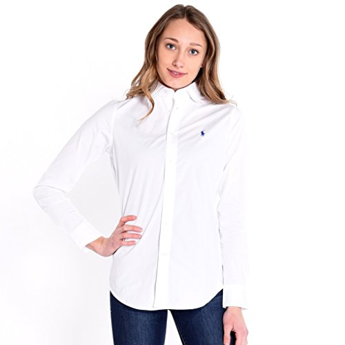 Polo Ralph Lauren Damen V33IG270BG207 Hemd, Weiß (White B1426), Medium (6)