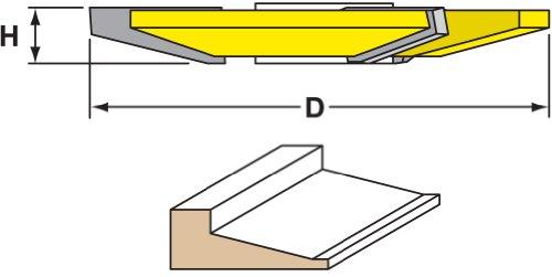 Woodtek 832784, Shaper Cutters, Shaker Raised Panel, 15-Deg, 1-1/4
