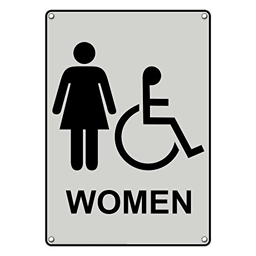 We OFFer Max 83% OFF at cheap prices Weatherproof Plastic Vertical ADA Sign Women Accessible Restroom
