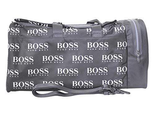 Hugo Boss Herren Iconic Nylon Logo Holdall Weekender Bag Seesack, schwarz, Einheitsgröße