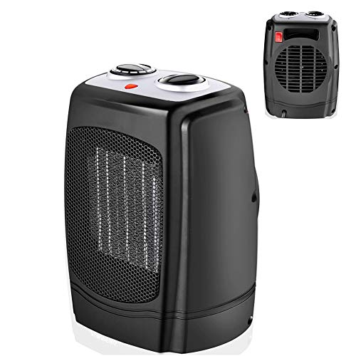 Kokin ventilatorkachel, keramiek, 3 temperatuurinstellingen, laag verbruik, snelle verwarming, stil, constante temperatuur voor woonkamer, slaapkamer, kantoor