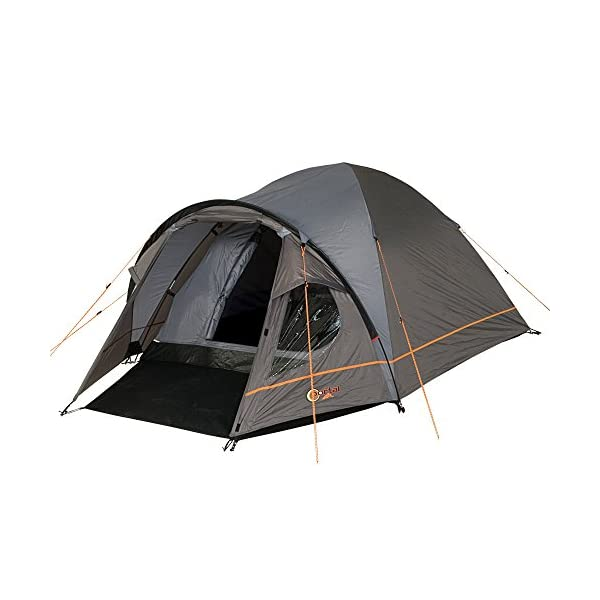 Portal Outdoor Bravo 3 Lightweight, Premium Dome Tent with Fibreglass Poles, Porch and Triple Ventilation, Sleeps up to 3 People – Includes Free Storage Bag