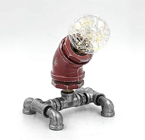 LED Schreibtischlampe mit USB-Ladeanschluss Lernen Bürobeleuchtung Schlafzimmer Nachttischlampe Leselampe roter Verschleiß Effektfarbe Eisenpfeife
