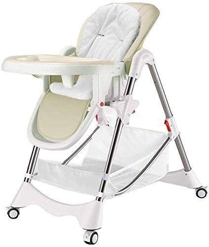Find Discount HWZQHJY Slim Folding Highchair (Color : Beige)