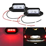 LivTee Waterproof 12V LED Tag License Plate Lamp Light for Truck SUV Trailer Van, Step Courtesy Lights, Dome Cargo Lights or Under Hood Light, Red(2-Pieces)