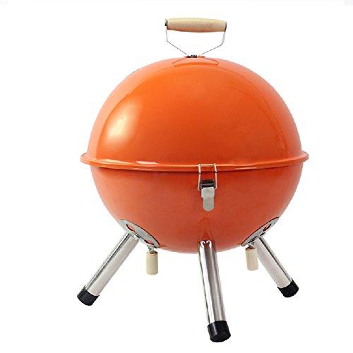 TopBlïng Smoker HolzSmokergrill Mini-wasserkocher Grill,Outside Rauchfreier Portable Geräuscharmer Picknickgrill Barbecue Outdoor Picknick Camping 2-4 Volk-orange 31 * 42cm