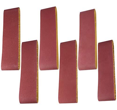 S SATC Sanding Belt 6 PCS Sander Belt 6×48-Inch, Aluminum Oxide (1 Each of 60, 80, 120,150,240,400 Grits)
