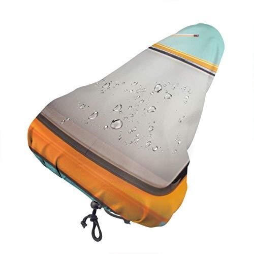 Zemivs Universeller Sitzbezug Retro-Vintage Orange TV Fahrradsattel Regenbezug Kinder Fahrradsattelbezug Mit Kordelzug, Regen- und Staubbeständig für die meisten Fahrradsättel