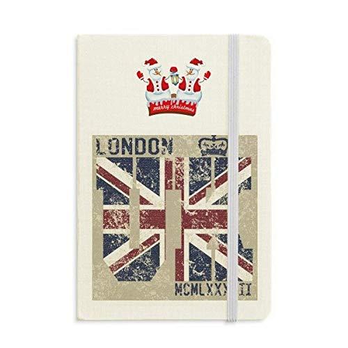 London King UK The Union Jack - Cuaderno de Navidad con diseño de muñeco de nieve