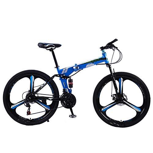 Vélo de montagne pliable, taille de roue 26 pouces, vélo de route 21 vitesses, double frein à disque, pour l'environnement urbain et les trajets vers et depuis le travail