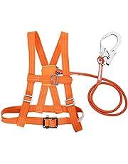 Cinturón de seguridad para trabajos aéreos, cuerda de rescate de arnés de escalada ajustable al aire libre, apto para electricista, construcción de edificios, escalada