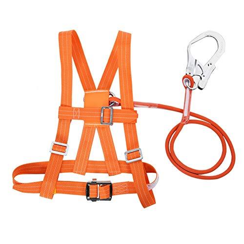 Kit di Imbracature di Sicurezza, Imbracatura Anticaduta di Sicurezza, Imbracatura di Sicurezza Regolabile Cintura di Sicurezza Corda di Salvataggio Lavoro Aereo Cintura di Sicurezza(Big Buckle 3m)