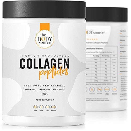Polvere proteica al collagene idrolizzata di alta qualità | Peptidi di collagene bovino non aromatizzati di alta qualità- 400g