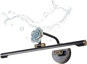 Badkamer LED spiegellicht koper, vintage make-upspiegel licht, waterdichte badkamer wandlampen, messing retro make-up lich...