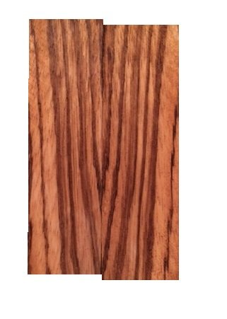 Zebrawood Knife Scales - 3/8'x1.5'x5' - 2 Pack