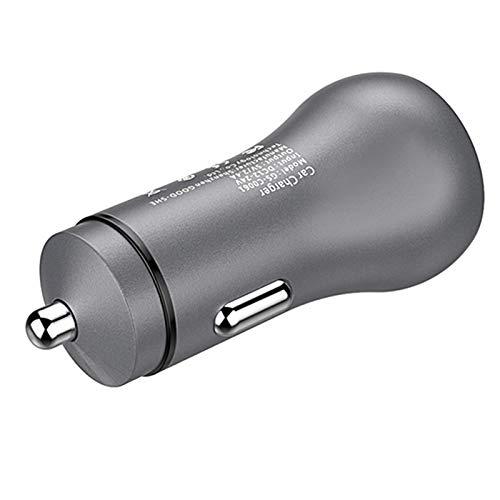 Iycorish Auto USB Ladeger?te Mit Led Sanftes Licht 5V 2.4A Schnellladung Handy/Tablet/Fahr Recorder/Spielmaschine Schnellladung Grau