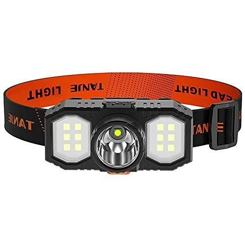 LED faro 3 modo USB recargable cabeza montado linterna 18650 batería LED luz de búsqueda impermeable noche Pesca lámpara