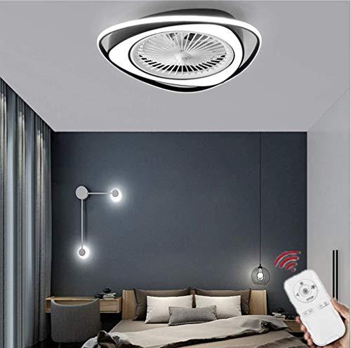 Ventilador De Techo con Luz, Ventilador Invisible Creativo Luz De Techo LED Control Remoto Regulable Lámpara De Araña Ultra Silenciosa