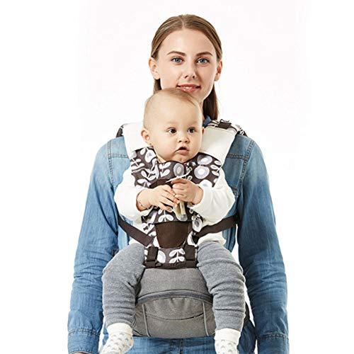 Wan-b Sling de bebé Confort Transpirable Cintura del bebé Correa del Taburete Verano Correa del Taburete de la Cintura del bebé Respirable,Gris