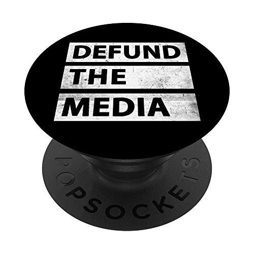 Defund The Media Noticias falsas políticas PopSockets PopGrip Intercambiable