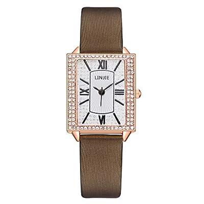 COOKI Women Watches Analog Female Watches Wrist Watches Lady Watches Geometric Square Gradient Matte Ladies Quartz Watch