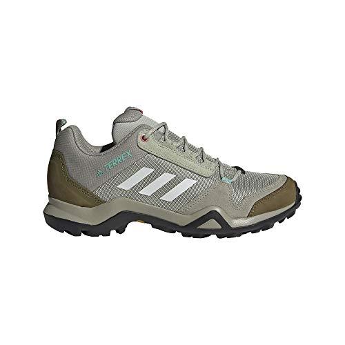 adidas Terrex AX3 W, Zapatillas de Senderismo Mujer, HALGRN/FTWWHT/ACIMIN, 38 EU