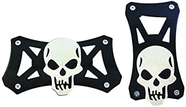 Super's Automotive Pedal Covers, Skull Style Universal Racing Pedal Pad for Automatic Transmission