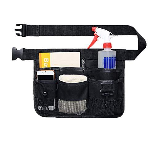 Uteruik Gartenwerkzeug, Gürteltasche, strapazierfähig, Oxford-Werkzeug, Schürze mit 7 Taschen in verschiedenen Größen und Tiefe, Schwarz
