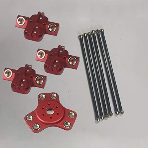 Accessori per stampante Attuatore magnetico XL + carrello + tubo in carbonio da 240 mm Kit aste di spinta diagonali per stampante 3D Delta kossel fai da te Parti della stampante 3D (Colore: rosso, dim