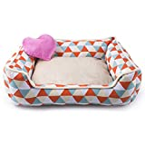 Petper Pet Self Warming Bed, Dog Sofa Bed with Love Pillow Toy, Medium