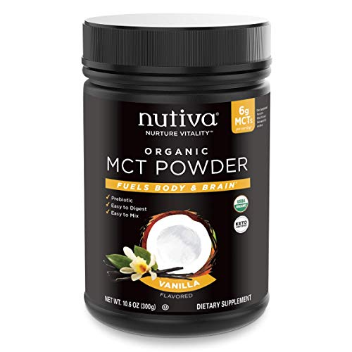 NUTIVA POWDER MCT VANILLA,, 10.6 Ounce ()