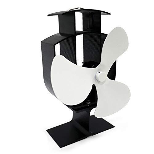 Yinglingqi-1 ventilatorkachel kachel ventilator stille rookafvoer 3 vleugels bureau ventilator houtbrander open haard wit