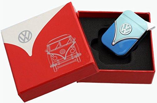 Volkswagen VW Gasfeuerzeug elektronisch nachfüllbar blau zweifarbig Design Zigarre Zigarre Zigarette Küche Camping