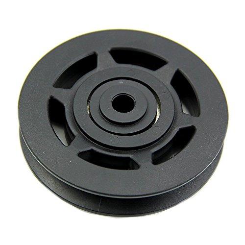 TOOGOO(R) 95mm Negro Cable rueda polea del cojinete Pierza equipo de gimnasia Resistente al desgaste