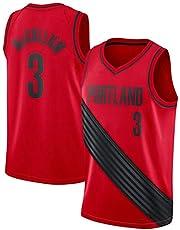 Portland Trail Blazers #0 Damian Lillard #3 Mccollum Camiseta de Jugador de Baloncesto para Hombres, Camiseta con Bordado, Camiseta de los fanáticos, Chaleco Transpirable Deportivas Jersey