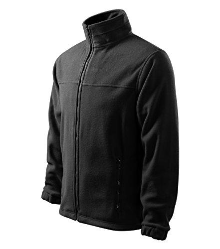 MIHEROS Outdoor Jacken Herren - wärmende Fleecejacke für den Herbst - Tolle Alternative zu Strickjacke oder Windbreaker - Schwarz - Größe: XXL