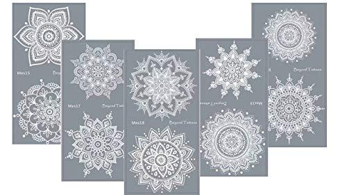 Tattoo Schablone mit Mikronetz für Körperbemalung einfach und wiederverwendbar Mandala Dream 5 Sheets