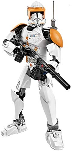 Minifigura de Star Wars para Construir Stormtrooper Dark Vader Kylo REN chew108a Boba Jango Fett Juguete de figurita de luto General para niño-Comandante Clon