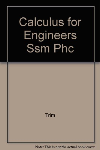 CALCULUS FOR ENGINEERS SSM PHC