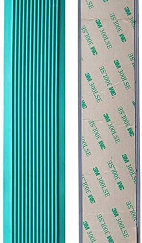 Zelfklevende, pvc-trappen, anti-slip strip, gekleurde tegels, rubberen vlakke marmeren vloeren, stap anti-slip stickers voor op de ruit, anti-slip mat, beschermende hoeken beschermen oudere mensen en kin L2m×W4cm groen