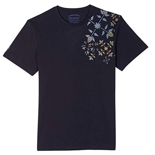 Oxbow N1TASTA Tee shirt manches courtes graphique Homme, Bleu (Deep Marine), L