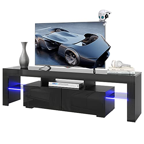 WLIVE Modern LED TV Stand for 60/65/70 Inch TVs with Color Change...