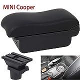 HRCHCG Console Armrest for Mini Cooper Coupe R50 R52 R53 R56 R57 R58 F55 F56 F57 Countryman (All Black, D2)
