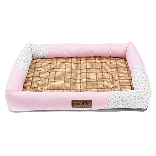 Haustierzubehör/Pinkes Hundebett mit kühlender Schlafmatte for den Sommer, waschbar und rutschfest (Size : XL 79×64×8cm)