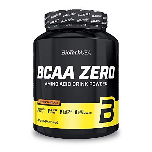 BioTechUSA BCAA Zero Zuckerfrei Aminosäuren Pulver mit Leucin, Isoleucin und Valin im Verhältnis 2:1:1, 700 g, Orange
