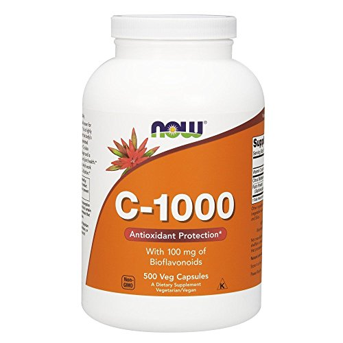 Now Foods Vitamina C-1000 con 100 mg Bioflavonids - 500 vcaps 500 Unidades 760 g