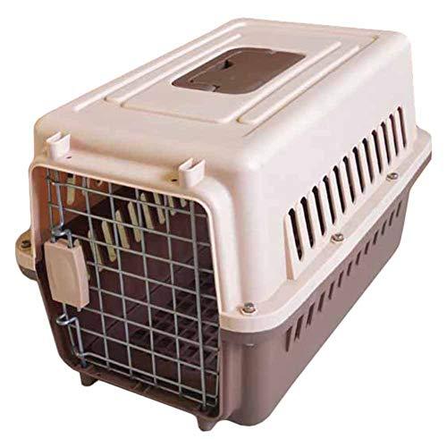 LXLA Transportin Portador de Viaje para Mascotas con tapete y tazón, Perrera de plástico portátil para visitas al Aire Libre/de Viaje/veterinarias, Perros pequeños y Gatos